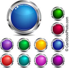 Ubicación en Internet y botones de iconos