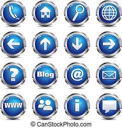 Ubicación Web y icono de Internet SET 1