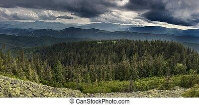 ucrania, carpathians, montañas