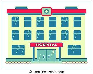 ui., facilidad, su, ilustración, tela, app, ambulance., aislado, hospital, vector, médico, plano, logotipo, blanco