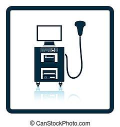 Ultrasonido icono máquina de diagnóstico