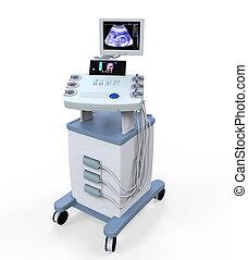 ultrasonido, médico, machi, diagnóstico