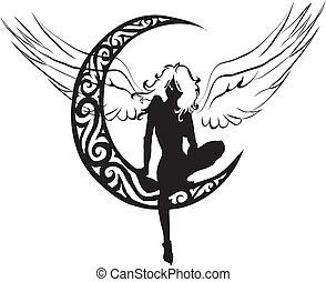 Un ángel en la luna