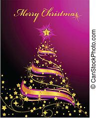 Un árbol de Navidad brillante