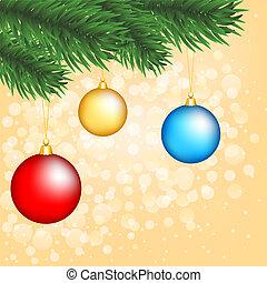 Un árbol de Navidad con adornos