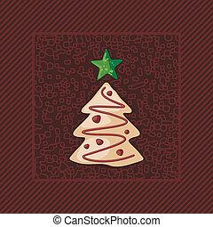 Un árbol de Navidad de pan de jengibre