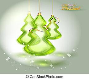 Un árbol de Navidad hecho de cristal.