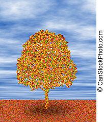 Un árbol en otoño