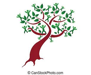Un árbol genealógico