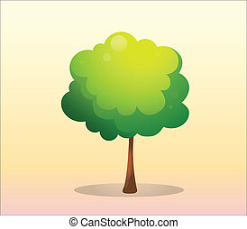 Un árbol verde