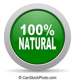 Un ícono de la web verde natural