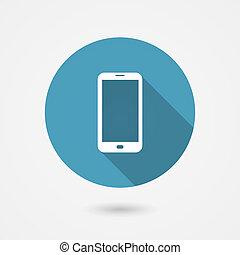 Un ícono de teléfono inteligente