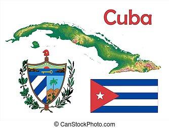 Un abrigo de bandera de Cuba