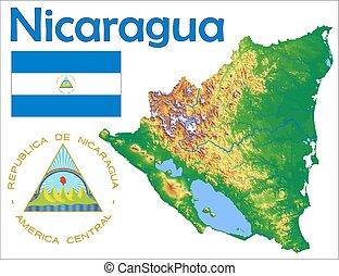 Un abrigo de bandera de Nicaragua