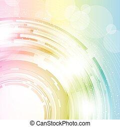 Un abstracto colorido