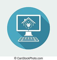 Un acuerdo mutuo, un icono vectorial inmobiliario para la página web o aplicación