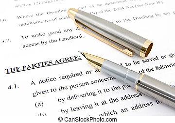 Un acuerdo y un bolígrafo