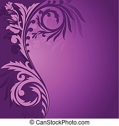 Un adorno asimétrico púrpura