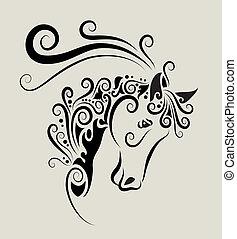 Un adorno de cabeza de caballo