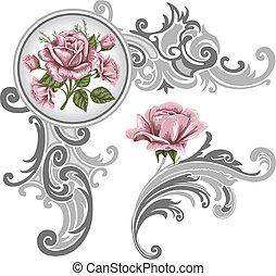 Un adorno de rosas