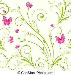 Un adorno floral sin semen