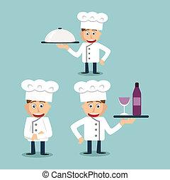 Un alegre chef más joven - ilustración