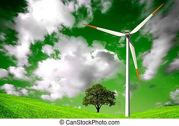 Un ambiente natural verde