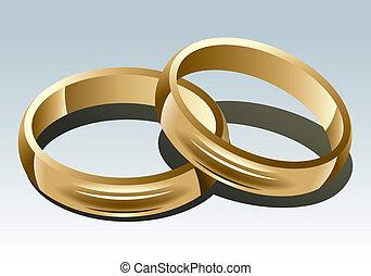 Un anillo de bodas en blanco. Ilustración del vector.