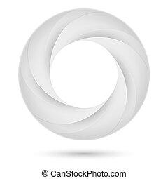 Un anillo en espiral blanco