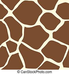 Un animal de piel de jirafa sin marcas