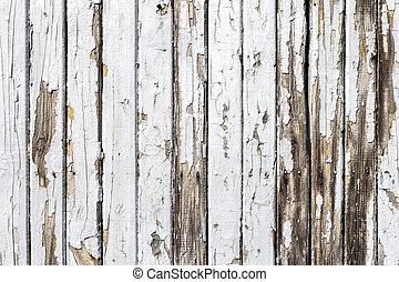 Un antiguo fondo blanco de una vieja pared de madera natural