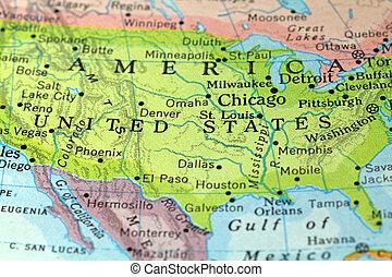 Un antiguo mapa de América