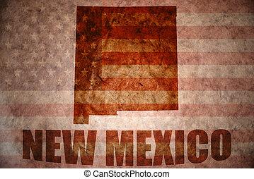 Un antiguo mapa de Nuevo México