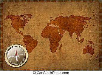 Un antiguo mapa del mundo