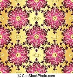 Un antiguo patrón dorado sin costura