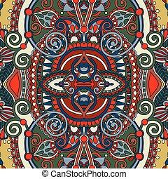 Un antiguo patrón floral de decoración sin costura