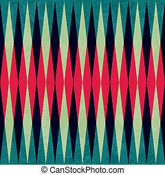 Un antiguo patrón rhombus sin costura