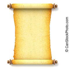 Un antiguo pergamino vacío