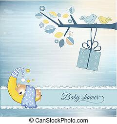 Un anuncio de despedida de bebé