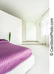 Un apartamento amplio con cama doble