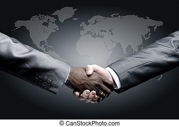 Un apretón de manos aislado en los negocios
