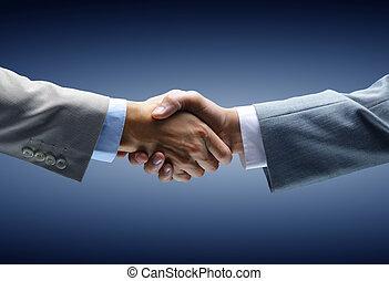 Un apretón de manos