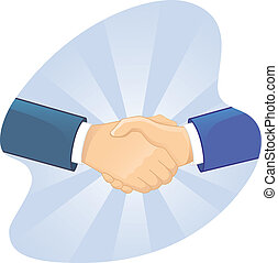 Un apretón de manos de dos hombres
