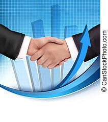 Un apretón de manos entre gente de negocios