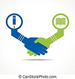 Un apretón de manos entre gente educada