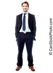 Un apuesto ejecutivo de negocios