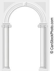 Un arco blanco clásico
