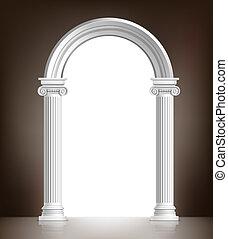 Un arco blanco realista