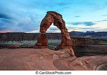 Un arco de arco de arcos del parque nacional