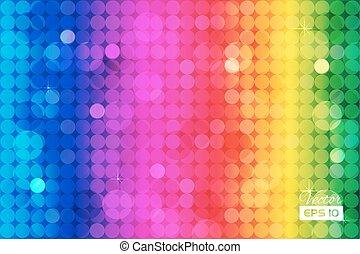 Un arco iris abstracto con círculos